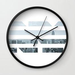 NY blinds Wall Clock