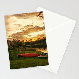 Sunset at Lakeside Lodge Stationery Cards
