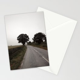 misty road in derbyshire Stationery Cards