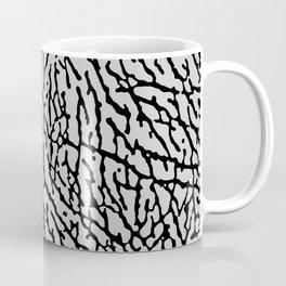 Elephant Print black / gray Coffee Mug