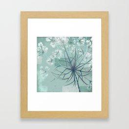Sage Hogweed Floral Framed Art Print