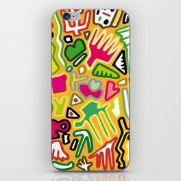 color doodle iPhone Skin