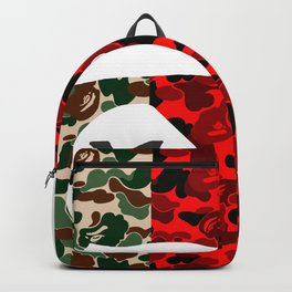 RED X GREEN camo Backpack