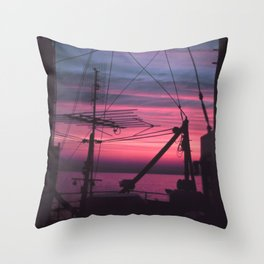 Commercial Riggings with Sunset Throw Pillow
