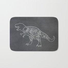 Tyrannosaurus, Rex Dinosaur (A.K.A. T REX) Butcher Meat Diagram Bath Mat