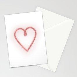 NEON HEART - minimalist design Stationery Cards