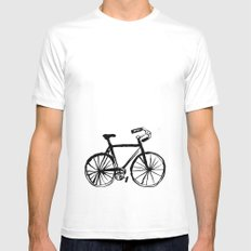 I Like Riding My Bicycle Mens Fitted Tee White MEDIUM
