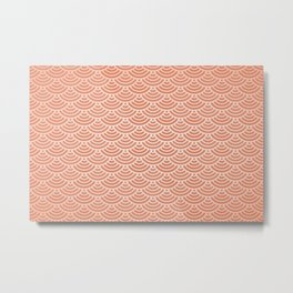 Japanese orange pattern Metal Print