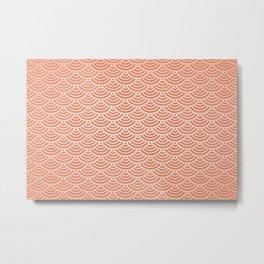 Japanese orange pattern Metal Print