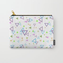 Abstract triangles pattern with triangular Carry-All Pouch