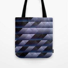 Geometric blue gray Tote Bag