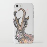 jackalope iPhone & iPod Cases featuring Jackalope by Joseph Kennelty