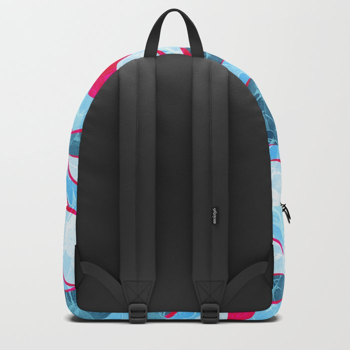 Abstract Sea Waves Design Backpack