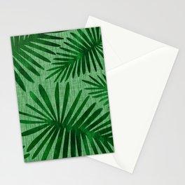 Emerald Retro Nature Print Stationery Cards
