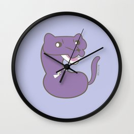 Purple Mink (c) 2017 Wall Clock