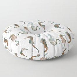 Sea Horses Patten Floor Pillow