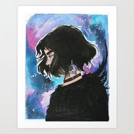 the raven cycle BLUE Art Print
