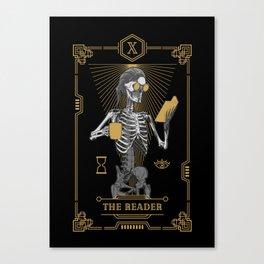 The Reader X Tarot Card Canvas Print