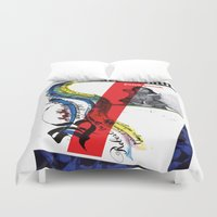 calligraphy Duvet Covers featuring Calligraphy 1 by omerfarukciftci