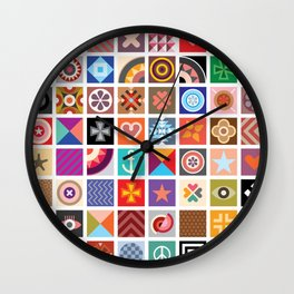 Geometric Pattern Designs Wall Clock