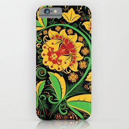 Russian traditional khokhloma iPhone Case