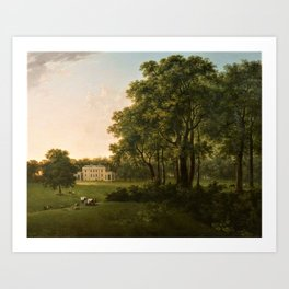 Classical Masteripiece 'A View of the South Front of Bower House, Havering-atte-Bower' by Abraham Pe Art Print