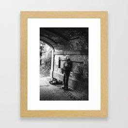 Bridge Busker Framed Art Print