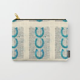 Watercolor Horseshoes Vintage Dictionary Page Carry-All Pouch
