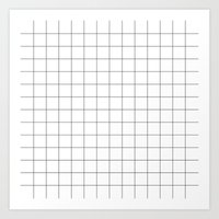grid Art Prints featuring Grid by STATE OF THE HEART