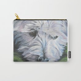 West Highland Terrier dog art portrait from an original painting by L.A.Shepard Carry-All Pouch