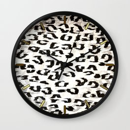 Leopard Spots (Black and White) Wall Clock