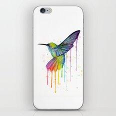 Hummingbird Rainbow Watercolor iPhone & iPod Skin