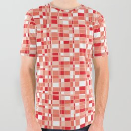 Mod Gingham - Red All Over Graphic Tee