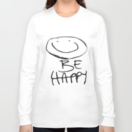 New Ladies Short Sleeve Be Happy Print Womens Electrical T-Shirts Long Sleeve T-shirt