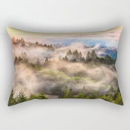 Coastal Fog Over Mount Tamalpais Rectangular Pillow