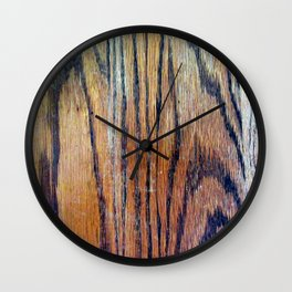 Worn Oak Wall Clock