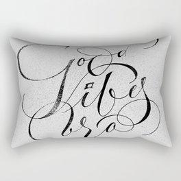 Good Vibes Bro Rectangular Pillow