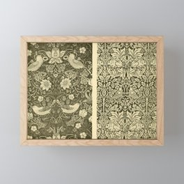 Morris & Co - Pattern Print - Strawberry Thief and Brer Rabbit (1918) Framed Mini Art Print