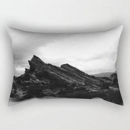 Foggy Rocks Rectangular Pillow