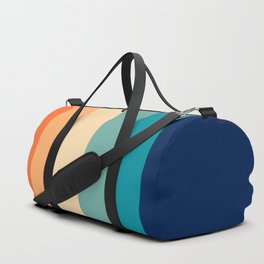 7 Colorful Retro Summer Stripes Bamola Duffle Bag