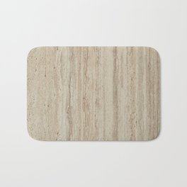 Beige Travertine Stone Texture Bath Mat