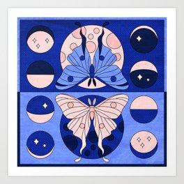 Luna Moth Phases Art Print