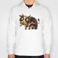 cow Hoodies featuring Cow by Riccardo Pertici