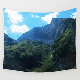 Pastures in the Alps Wall Tapestry
