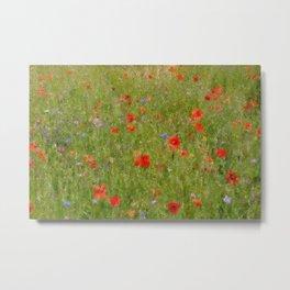 Field of Poppies (in mosaic) Metal Print