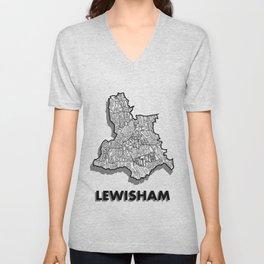 Lewisham - London Borough - Detailed Unisex V-Neck