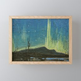 Northern Lights - Tom Thomson Framed Mini Art Print