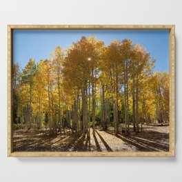 Autumn Blaze outside of Crested Butte, Colorado for #Society6 Serving Tray