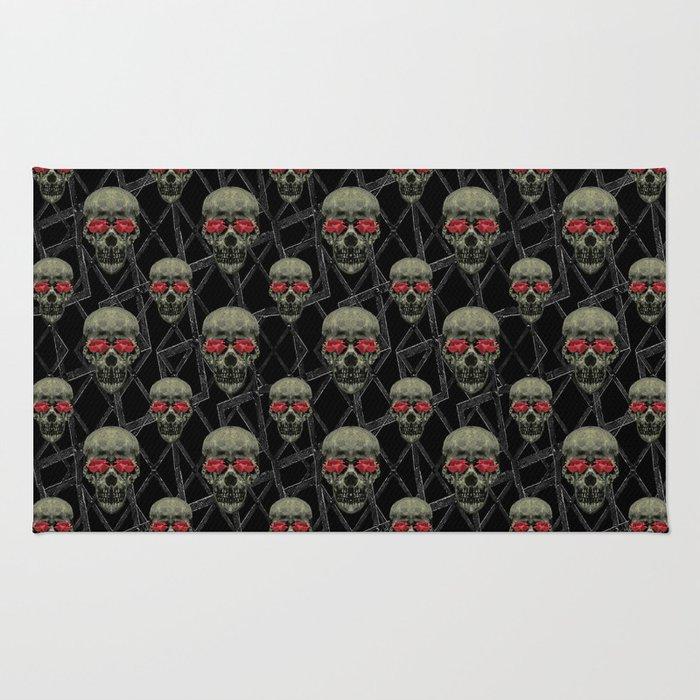 Skulls Motif Pattern Rug
