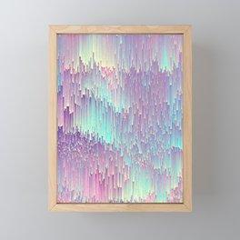 Iridescent Glitches Framed Mini Art Print